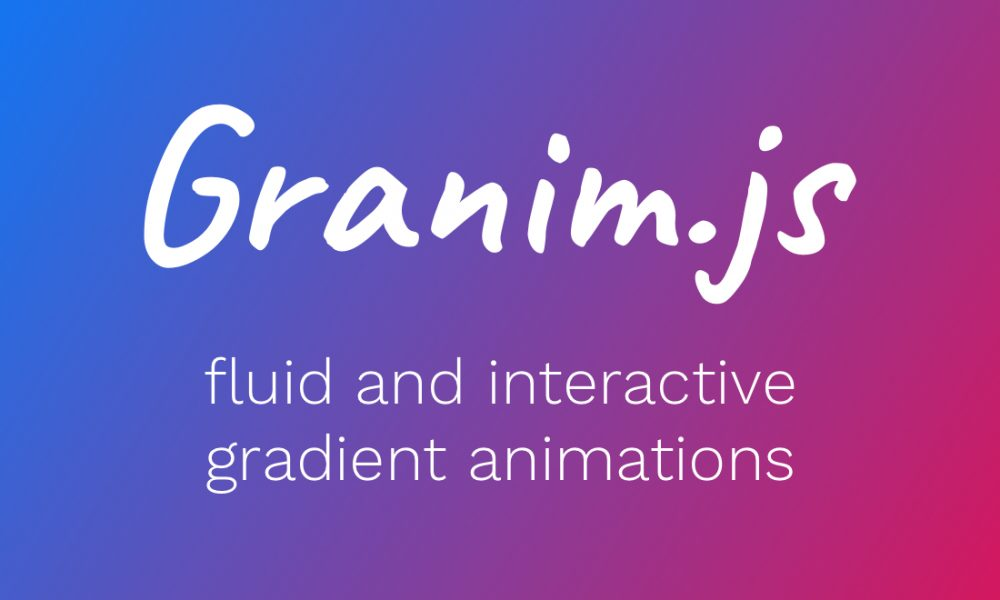 Add animated gradients to your website with javascript | Granim.js