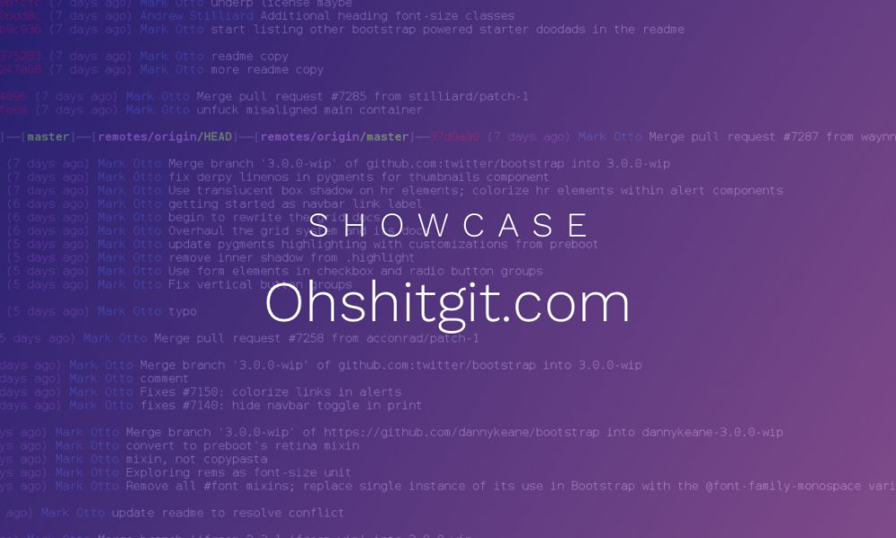 Showcase: Solve your Git errors with ohshitgit.com