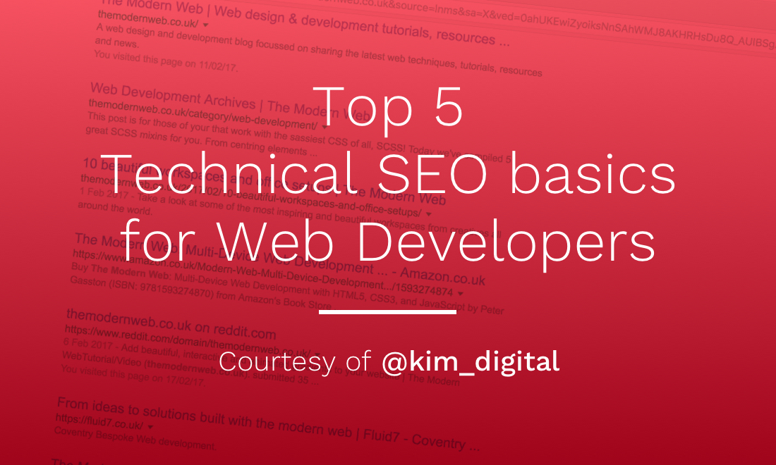Top 5 Technical SEO basics for Web Developers