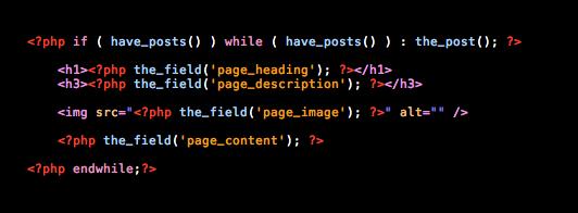 Advanced Custom Fields Code Example